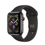 Watch Series 4 Steel Cellular (44mm), Space Black, Midnight Blue Sport Band
