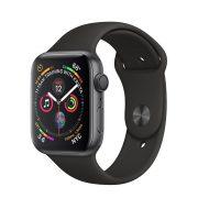 Watch Series 4 Aluminum Cellular (44mm), Space Gray, Black Nike Sport Loop