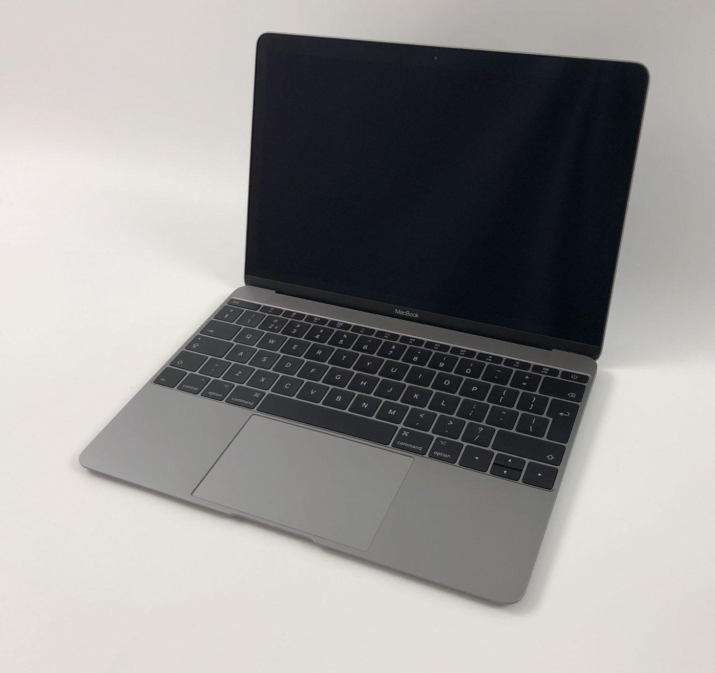 """MacBook 12"""" Mid 2017 (Intel Core m3 1.2 GHz 8 GB RAM 256 GB SSD), Space Gray, Intel Core m3 1.2 GHz, 8 GB RAM, 256 GB SSD, Afbeelding 1"""