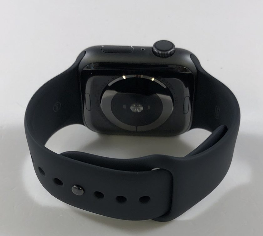 Watch Series 4 Aluminum (44mm), Space Gray, Black Sport Band, image 2