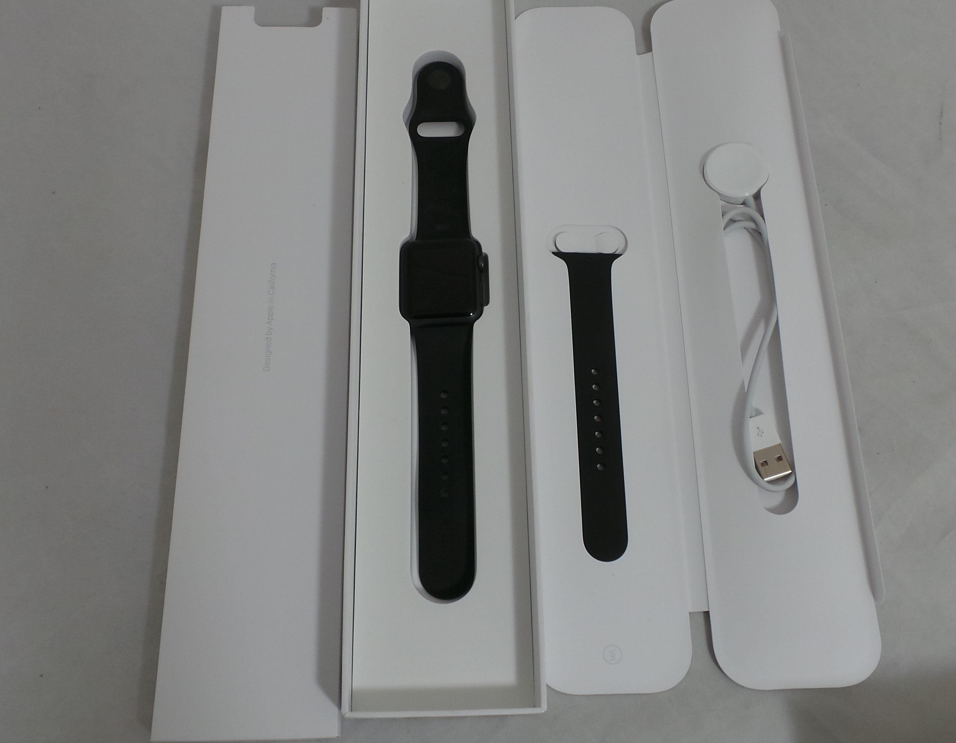 Watch Series 1 Aluminum (38mm), black, Kuva 1