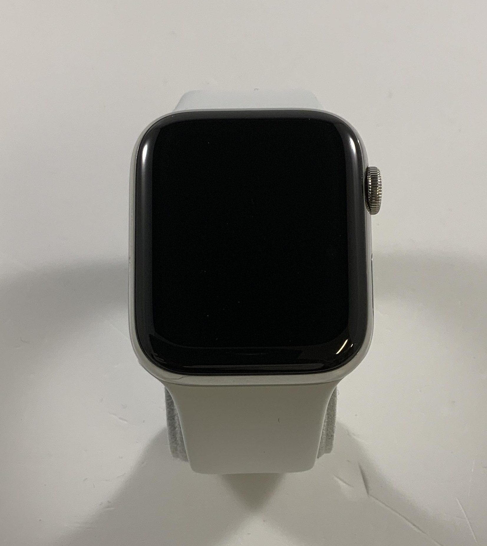 Watch Series 4 Steel Cellular (44mm), Silver, White Sport Band, Afbeelding 1